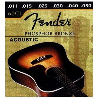 Fender สายกีต้าร์โปร่ง คุณภาพสูง 60CL เบอร์ 11 (1ชุด)