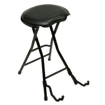 Ibanez IMC50FS Folding Stool for Guitarists / Bassists Can Be Used As Guitar Stand เก้าอี้พร้อมขาตั้งกีต้าร์ - Black