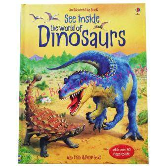 Usborne See inside - The World of Dinosaurs - with over 50 flaps (หนังสือนิทานภาษาอังกฤษ)