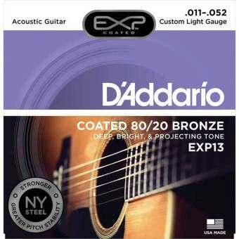 D'Addario สายกีต้าร์โปร่งแบบเคลือบ 11-52 รุ่น EXP13