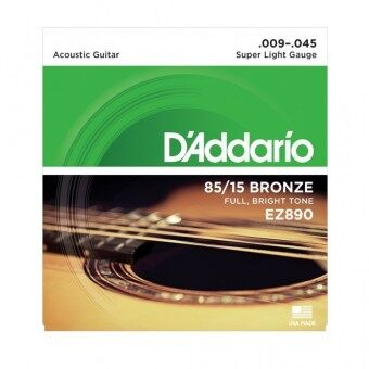 Daddario สายกีตาร์โปร่ง EZ890 Super Light .009-.045