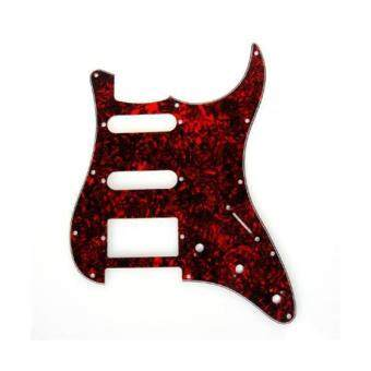 BolehDeals กีต้าร์ Pickguard 11 หลุมสีแดงทำจากกระดองเต่าสำหรับ Strat Fender Stratocaster