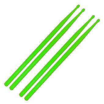 ไม้ตีกลองชุด ไม้ตีกลองพลาสติก สีเขียว2คู่ / Plastic drum stick 2 pairs - Green (Drumstick)