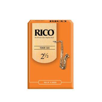 Rico ลิ้น Tenor Saxophone รุ่น กล่องส้ม เบอร์ 2.5 (box of 10 Reeds)