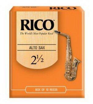 Rico ลิ้นอัลโต แซกโซโฟน รุ่น กล่องส้ม เบอร์ 2.5 (กล่องละ 10 อัน)