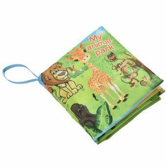 Minlane Kids Fabric Book หนังสือผ้า สัตว์ป่า มีเสียงปิ๊ดๆ