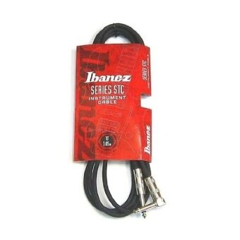 Ibanez Instrument Cable STC Series สายสัญญาณสำหรับเครื่องดนตรี ขนาดความยาว 10ft (3.05 เมตร) - Black
