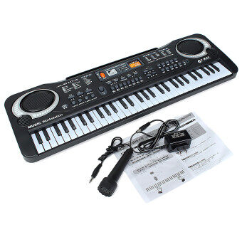 Harga 3pcs 61 Keys Digital Music Electronic Keyboard Key Board Gift Electric Piano Organ - Intl