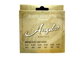 ANGEL สายกีต้าร์โปร่ง AAS-5812 ชุด (สาย 1-6) No.12-53