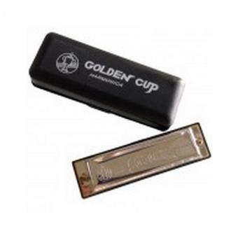 Golden Cup ฮาร์โมนิก้า ขนาด 10 ช่อง คีย์ C รุ่น JH1020FC