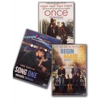 DVD Begin Again เพราะรัก คือเพลงรัก + Once หัวใจร้องว่ารักเธอ + Song One เพลงหนึ่ง คิดถึงเธอ (3 DVDs)