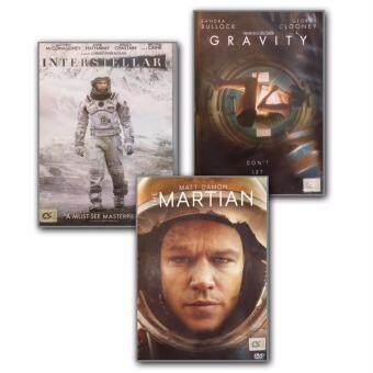 DVD Interstellar ทะยานดาวกู้โลก + The Martian กู้ตาย 140 ล้านไมล์ + Gravity มฤตยูแรงโน้มถ่วง (3 DVDs)