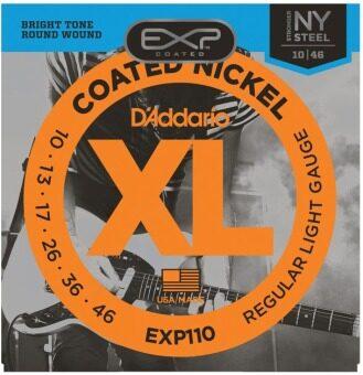 D'Addario สายกีต้าร์ไฟฟ้าแบบเคลือบ Nickel รุ่น 10-46 EXP-110