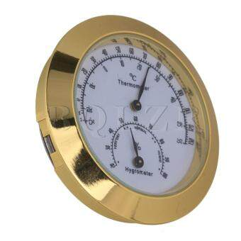 Thermometer Hygrometer for Guitar Violin Case Golden
