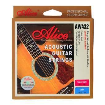 Alice สายกีต้าร์โปร่ง Light Acoustic AW432 รุ่น เคลือบกันสนิม .012-.053