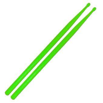 ไม้ตีกลองชุด ไม้ตีกลองพลาสติก สีเขียว1คู่ / Plastic Drum Stick 1 pair - Green / drumstick