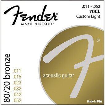 Fender สายกีต้าร์โปร่ง สายกีต้าร์อคูสติก เฟนเดอร์ 80/20 Bronze เบอร์ 11-52