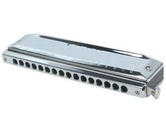 Harga SOBUY C Key 16 Hole 64 Tone Chromatic Harmonica Harp Mouth Organ Instrument (Silver)
