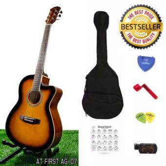 At First กีตาร์โปร่ง Acoustic Guitar AG-07SB SET