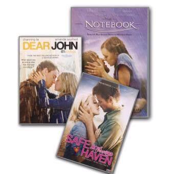 DVD The Notebook รักเธอหมดใจ ขีดไว้ให้โลกจารึก + Safe Haven รักแท้ หยุดไว้ที่เธอ + Dear John รักจากใจจร (3 DVDs)