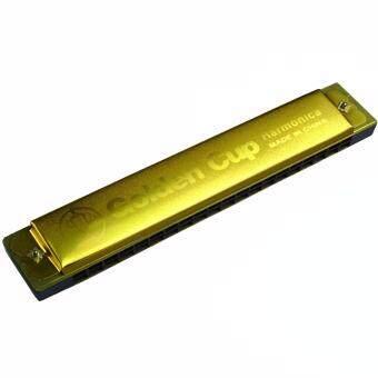Golden Cup ฮาร์โมนิก้า 20 ช่อง คีย์ C รุ่น JH020-1GD - สีทอง (Harmonica Key C)