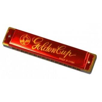 Golden Cup เม้าท์ออแกน 16 ช่อง คีย์ C รุ่น JH-016-1 (สีแดง)