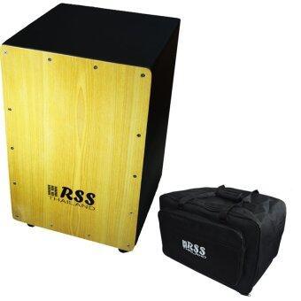 Records RSS กลองคาฮอน cajon Black + กระเป๋าคาฮอง cajon bag