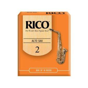 Rico ลิ้นอัลโต แซกโซโฟน รุ่น กล่องส้ม เบอร์ 2 (box of 10 reeds)