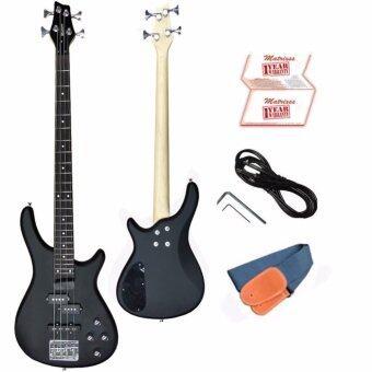 Matrixss เบสไฟฟ้า Electric Bass รุ่น IB4BK + สานสะพาย + สายแจ็ค + ใบรับประกัน