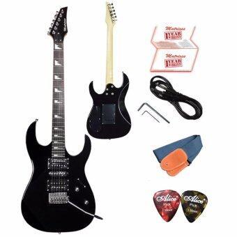 Matrixss กีตาร์ไฟฟ้า Electric Guitar รุ่น ME212BK+สายสะพายกีตาร์+สายแจ็คกีตาร์+ที่ขันคอกีตาร์+ปิ๊ก*2+ใบรับประกัน