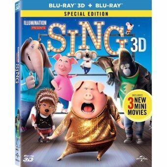 Media Play SING (3D+2D) ร้องจริง เสียงจริง (บลูเรย์ 3 มิติ + 2มิติ) Blu-Ray 3D Special Edition