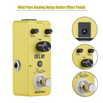 Mini Pure Analog Delay Guitar Effect Pedal True Bypass Aluminum Alloy Body - intl