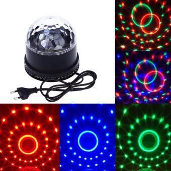 nbc ไฟดิสโก้ ปาร์ตี้ LED RGB 2in1 magic ball แสงผสม(สีดำ)