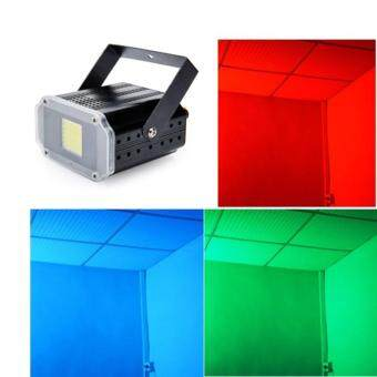 Harga New 20W Multi Color RGB Strobe Lights LED Flash Party Disco Strobestage Light DJ KTV led strobe light hand held strobe light - intl
