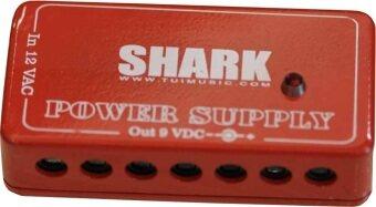 Shark Power supply 9v. สายพ่วง7หัวอะแด๊ปเตอร์ 9v. (สีแดง)