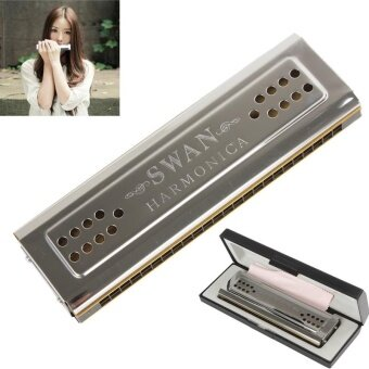 Harga Swan 24 Holes Key Of C&G Double-side Tremolo Harmonica - intl