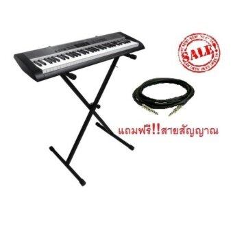 ขาตั้งคีย์บอร์ด X เดี่ยว keyboard Stand X รุ่น PF-E10 (Black)แถมฟรี สายสัญญาณ มูลค่า 250 บาท