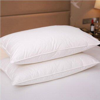 100% Hungarian Goose Down Filled Pillow 1800TC White 100% Egyptian Cotton Cover (Intl)