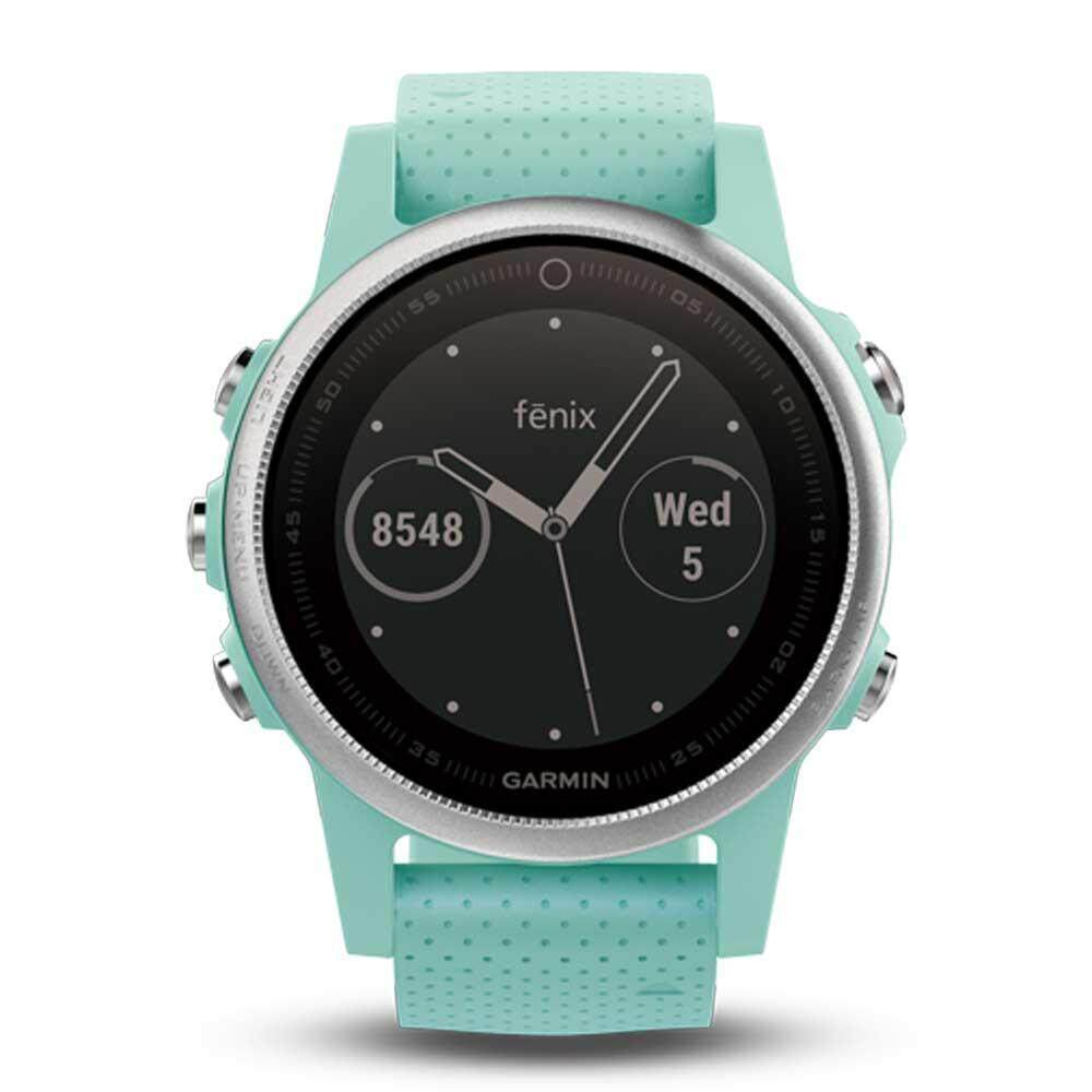 สอนใช้งาน  นครสวรรค์ Garmin Fēnix 5S GM-010-01685-43 Smart Digital Frost Blue Silicone Unisex Smartwatch