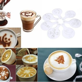 16pcs Coffee Printing Stencils