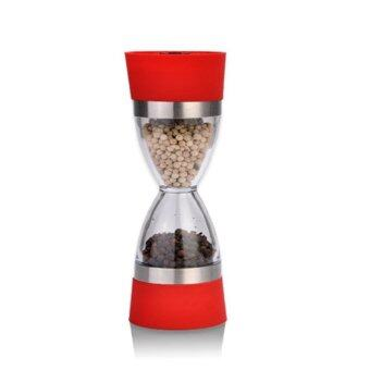 2 in 1 Manual Pepper Shaker Salt Spice Mill Grinder HourglassDesign Outdoor - intl