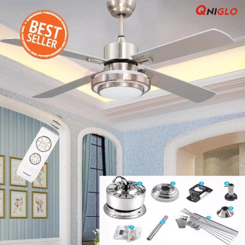 48 inches Fans LED cooling ceiling fan Light การระบายความร้อน แฟน AC 90-260V with Remote Control for Living Bed Room Ceiling Fans ราคาถูกจนอยากบอกต่อ