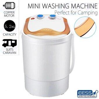 ประกาศขาย เครื่องซักผ้า ขนาด 5.2 กิโลกรัม Mini Cleaning Machine เครื่องซักผ้าเปิดฝาด้านบน เครื่องซักผ้าและเครื่องอบผ้า(ทอง)