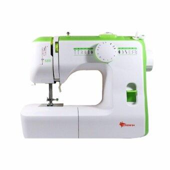 ขายด่วน ASWIN Sewing Machine จักรเย็บผ้ากระเป๋าหิ้ว 4 เส้น รุ่น Bl4-434d สีเขียว