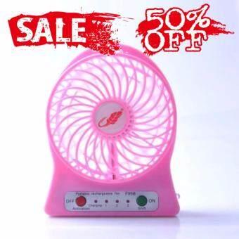 Bangkok life Mini fan พัดลมพกพาขนาดเล็ก ชาร์จสายUSB ใส่ถ่าน ลมแรง
