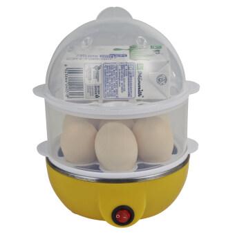 2560 BEST Dmall เครื่องต้มไข่ หม้อนึ่งอเนกประสงค์ 2 ชั้น - Yellow