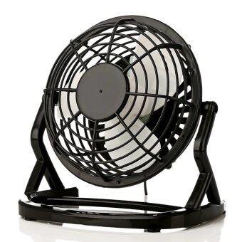 BEST HS USB Mini Fan พัดลมเหล็ก มีสวิทช์ (Black)