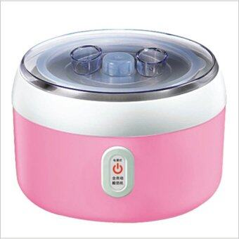 BEST HS Yogurt machine เครื่องทำโยเกิร์ต Portable Automatic FruitYogurt Maker Plastic liner HS-003 Pink