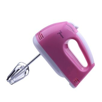 BEST Tmall Electric 7 Speed Egg Beater Flour Mixer Mini ElectricHand Held Mixer (Pink) Free Egg white separator (image 1)