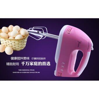 BEST Tmall Electric 7 Speed Egg Beater Flour Mixer Mini ElectricHand Held Mixer (Pink) Free Egg white separator (image 4)